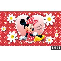 Minnie Red Vermelha Painel 3x1,70m Lona Festa Aniversário