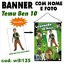 Banner Infantil Aniversário Nome E Foto Tema Ben 10 Will135