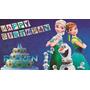 Painel De Festa Infantil 2x1,5 Frozen Fever, Barbie E Outros