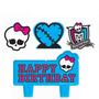 Vela De Aniversário Monster High / 04peças No Pacote R$39,90
