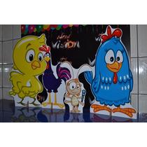 Kit Displays 8 Peças Galinha Pintadinha, Pintinho, Galo...