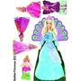 Barbie Princesas 02 Kit Displays Mdf 6 Mm Decoração Festa