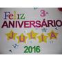Kit 50 Peças Festa Infantil Personalizado E.v.a Glitter Pain