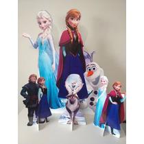 4 Display Frozen Totem Painel Cenário (01 Chão + 03 Mesa)