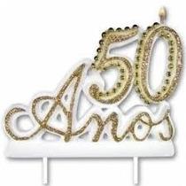 Vela De Aniversário 15 Anos E 50 Anos, Trabalhada E Perolada