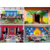 Telas Para Balão, Pds, Decoração De Festa Infantil, 10 Kits