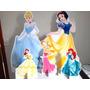 Kit Displays Princesas Disney Totem Painel Cenário 5 Peças