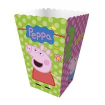 Mini Caixa Para Pipoca Peppa Pig C/12 Unid - Regina Festas