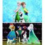 Incrível! Kit Frozen Fever 8 Peças + Painel Lona 2,00x1,40mt