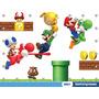 Painel Mario Bros 2,00x1,50m Lona Festa Aniversario Banner