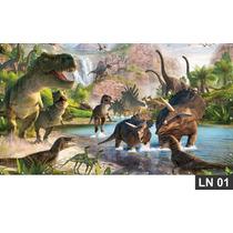 Dinossauros Painel 2,00x1,00 Lona Festa Banner Aniversario