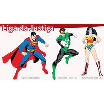 Kit Personagens Painel Decorativo Para Festa Liga Da Justiça