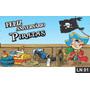 Piratas Painel 3,00x1,70m Lona Festa Aniversário Decoração