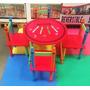 Kit Infantil Brinquedo 1 Mesa 4 Cadeiras Crayon Importado
