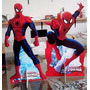 Kit Cenário Display De Chão Mesa Homem Aranha Com 2 Peças!