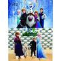 Kit Displays De Chão Frozen 8 Peças + Painel 2,00x1,40mt