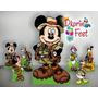 Mickey Safari Kit Displays Mdf 6 Mm,decoração Festa Infantil
