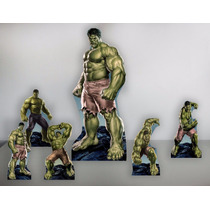 Hulk Kit Festa Display Cenario Chao Mesa Mdf 6mm, Decoração