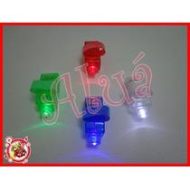 Kit 20 Anéis Led - 4 Cores- Laser De Luz + 1 Pct Bexiga Neon