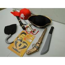 Kit Fantasia Jack Sparrow Chapeu Bandana Pirata Bainha