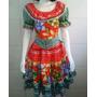 Vestido Caipira Estrela Adulto - Cores Variadas