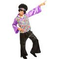 Fantasia Anos 70 Masculino,hippie,boogie Oogie,brilhantina,