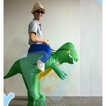 Fantasia Inflável Dinossauro Yoshi Criativa Ótima Qualidade