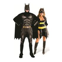 Fantasia De Casal Batman/batgirl De Luxo Completa Para Festa