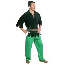 Fantasia Peter Pan Adulto C/ Faca E Chapeu Sulamericana
