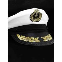Chapéu Quepe Capitão Marinheiro Marinha Fantasia Festa Boina