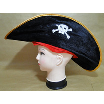 Kit Fantasia Pirata Jack Sparrow Chapeu 50 Cm Pirata Caribe