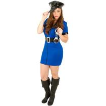 Fantasia Policial Adulto Azul Inportada
