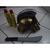 Promoção Elmo Guerreiro Medieval Gladiador Romano Cosplay