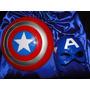 Fantasia Adulto Capitão America Mascara Capa Azul Escudo