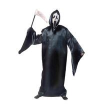 Fantasia Morte Adulto -capuz + Máscara Pânico + Machadinha