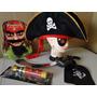 Luneta Chapeu Espada Gancho Disfarce Pirata Jack Sparrow New