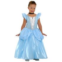 Fantasia Princesa Cinderela Luxo Cristal Sulamericana