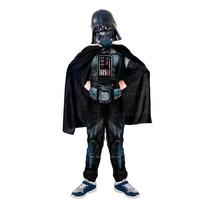 Fantasia Longa Darth Vader C/ Máscara E Capa + Sabre De Luz