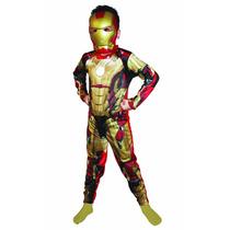 Fantasia Homem De Ferro 3 Infantil Longa Completa C/ Máscara
