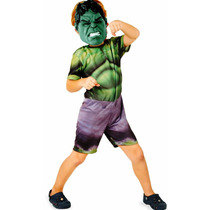 Fantasia Hulk Infantil Curta Rubies
