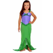 Fantasia Princesa Ariel/pequena Sereia Infantil Vestido