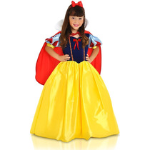 Fantasia Branca De Neve Princesa Disney De Luxo C/ Capa