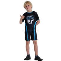 Fantasia Piloto Hot Wheels Infantil Curta Azul Completo