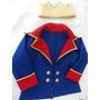Fantasia Pequeno Príncipe Blazer E Coroa P 3-4 Anos