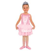 Fantasia Barbie Quero Ser Bailarina Luxo P - Sulamericana