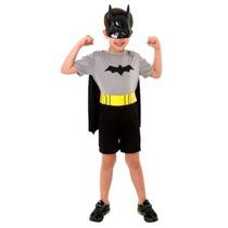 Fantasia Inf Batman Curta - Tam M 6 A 8 Anos - Sulamericana