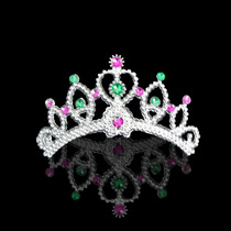 Kit Tiara 50 Unid Presilha Princesa Carnaval Festa Fantasia