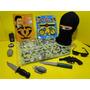 Policial Tatico Camuflado Touca Oculos Algemas Quase Rambo