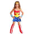 Fantasia Mulher Maravilha Infantil Heroina Completa