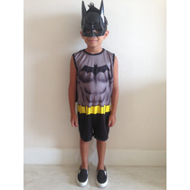 Fantasia Infantil Do Batman C Máscara - Aniversário Carnaval